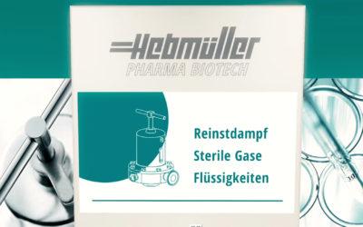 Hebmüller Pharma Biotech präsentiert Druckregler und Überströmer